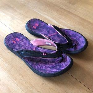 Under armour 4D foam purple/pink flip flops